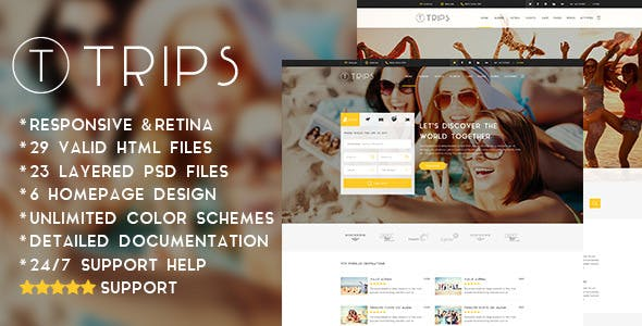 Trips   Travel Hotel Booking Site HTML Template