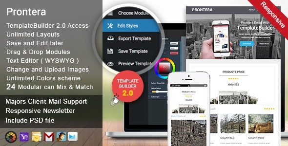 Prontera Responsive Email + Template Builder - Newsletters Email Templates