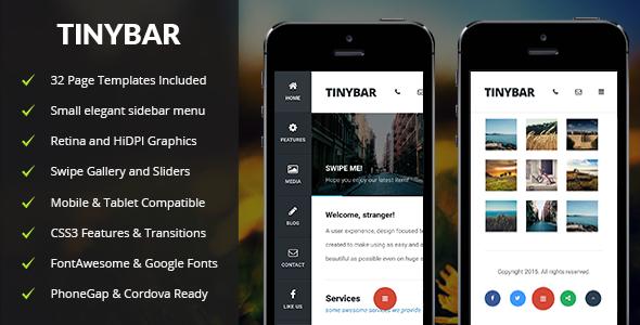 Tinybar Mobile - Mobile Site Templates