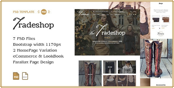 TradeShop - eCommerce PSD Template Design - Shopping Retail