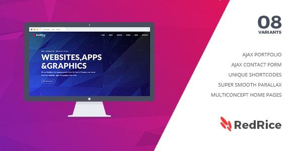 RedRice - One-Page Multipurpose Portfolio - Portfolio Creative