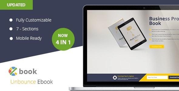 Ebook  Unbounce Template - Unbounce Landing Pages Marketing