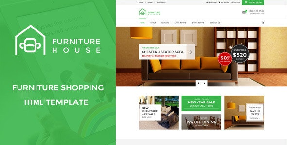 Furniture House - eCommerce Shop HTML Template - Shopping Retail