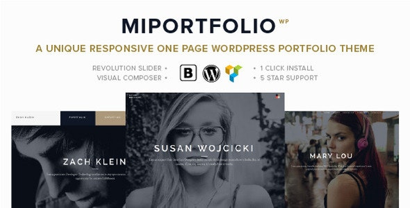 MiPortfolio - Responsive Portfolio WordPress Theme - Portfolio Creative