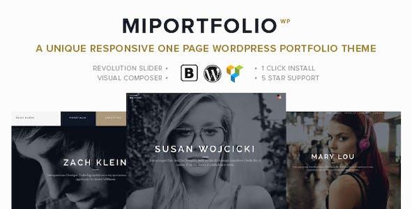 MiPortfolio - Responsive Portfolio WordPress Theme
