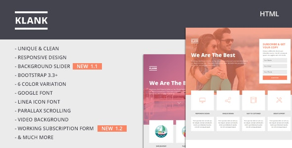 Klank | Multipurpose Landing Page With Bootstrap - Landing Pages Marketing