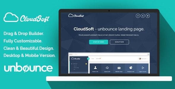 Cloud Soft Unbounce Landing Page Template - Unbounce Landing Pages Marketing