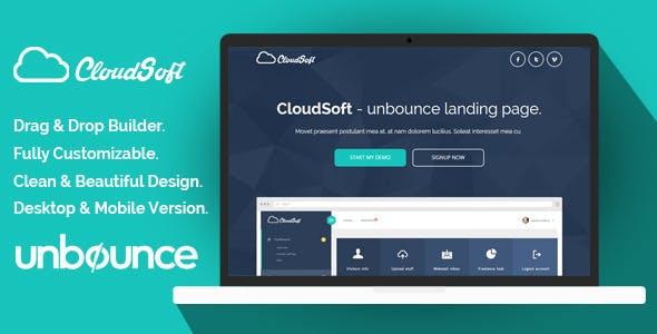 Cloud Soft Unbounce Landing Page Template