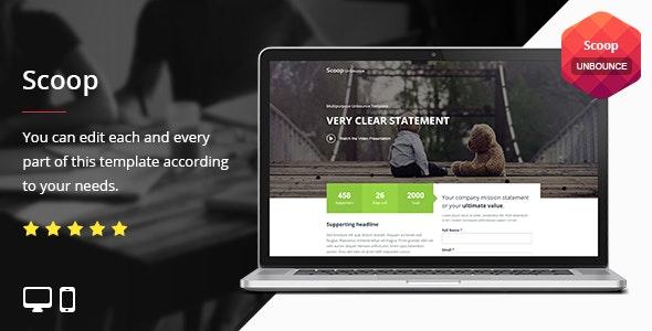 Scoop - Unbounce Template - Unbounce Landing Pages Marketing