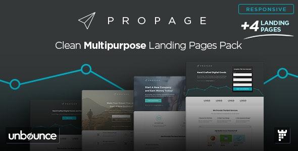 ProPage - Multipurpose Unbounce Template - Unbounce Landing Pages Marketing