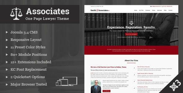Associates Lawyer & Attorney One Page Joomla Theme