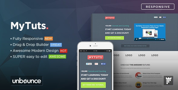 MyTuts - Education Unbounce Template - Unbounce Landing Pages Marketing
