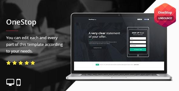 OneStop - Unbounce Template - Unbounce Landing Pages Marketing