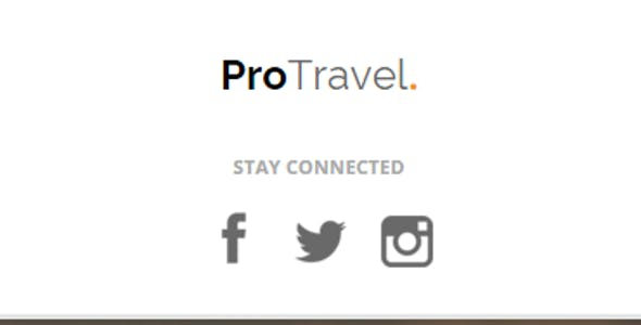 ProTravel - Travel Agency Unbounce Template