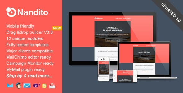 Nandito, Flat Responsive Email Template