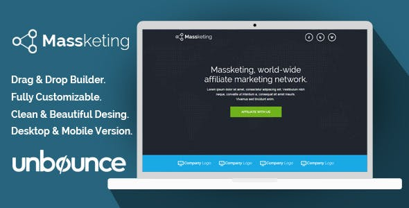 Massketing - Unbounce Landing Page Template