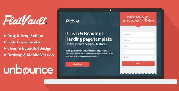 Flat Vault - Unbounce Landing Page Template - Unbounce Landing Pages Marketing