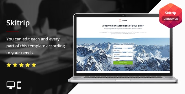 Skitrip - Unbounce Template - Unbounce Landing Pages Marketing