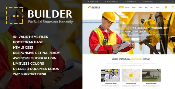 Builder - Responsive Construction Site Template - Business Corporate