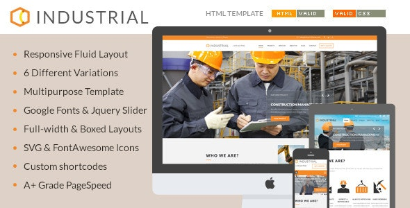 Industrial - Architects & Engineers HTML5 Template - Corporate Site Templates