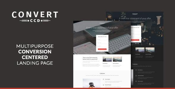 Convert - Multipurpose CCD Landing Page - Landing Pages Marketing