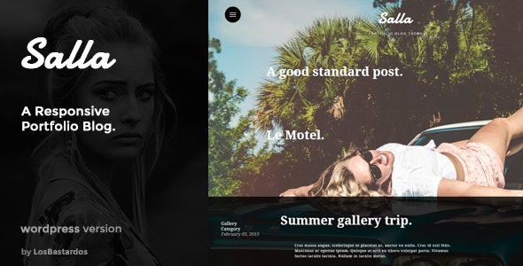 Salla - WP Responsive Fullscreen Portfolio Blog - Personal Blog / Magazine