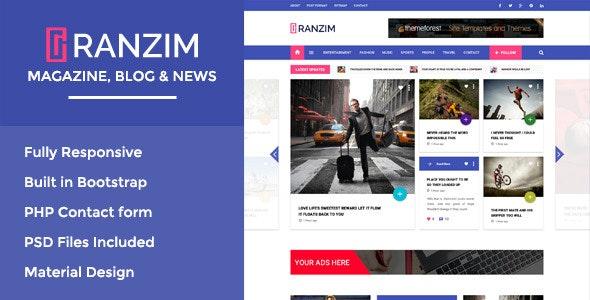 Ranzim - Magazine/News Responsive HTML Template - Miscellaneous Site Templates