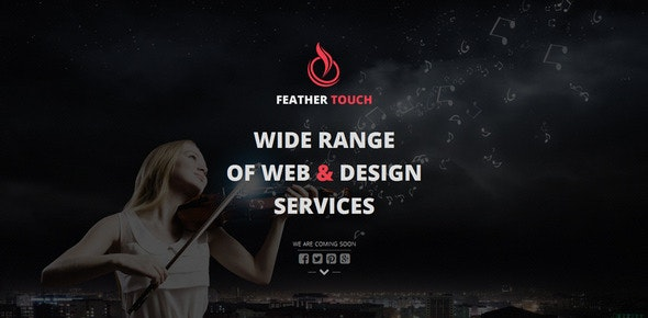Feather Touch - Responsive Coming Soon Template - Under Construction Specialty Pages