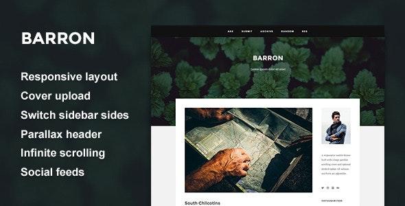 Barron - Content Focus Tumblr Theme - Blog Tumblr