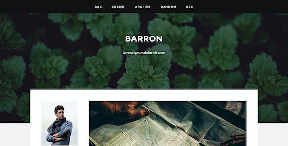 Barron - Content Focus Tumblr Theme