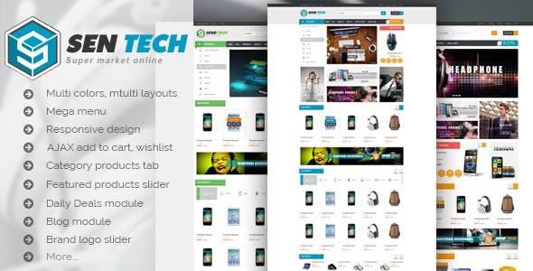 Sentech - Premium Responsive Magento Theme - Technology Magento