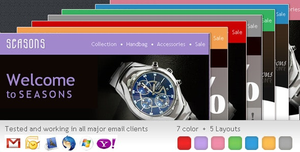 SEASONS Newsletter– 5 Different Layouts - Newsletters Email Templates