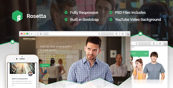 Rosetta - Multipurpose HTML Template - Marketing Corporate