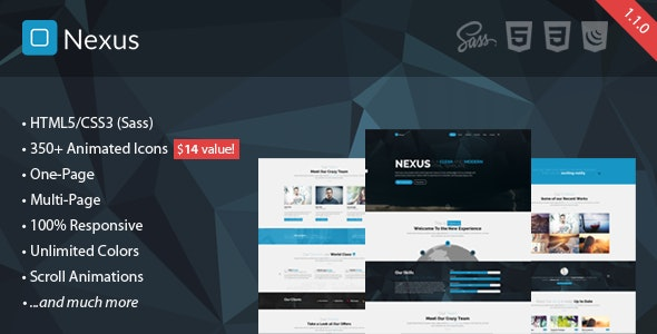 Nexus - Responsive Multipurpose HTML5 Template - Business Corporate