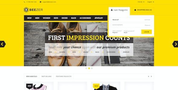BEEZER - eCommerce PSD Template