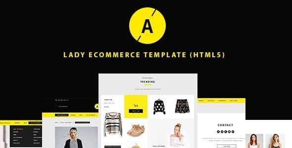 Lady | e-Commerce Shop Responsive Site Template - Shopping Retail