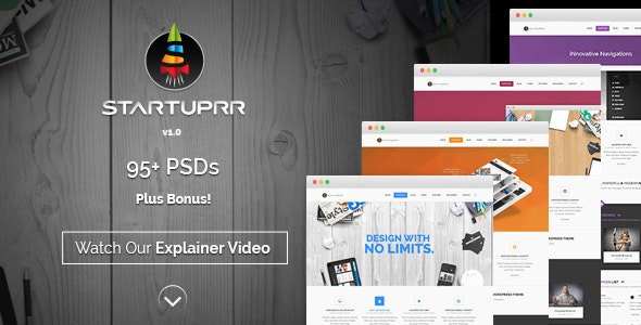 Startuprr – Multi-Purpose PSD Template - Miscellaneous Photoshop