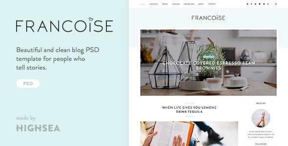 Francoise - Blog PSD Template - Miscellaneous Photoshop