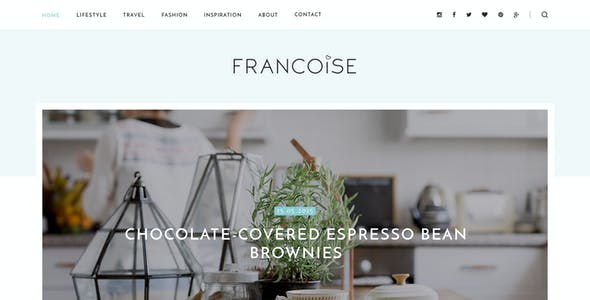 Francoise - Blog PSD Template