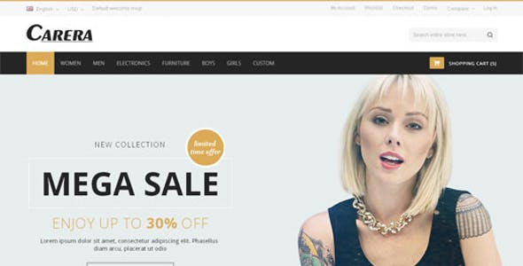 Carera - Jewelry Store Responsive OpenCart Theme