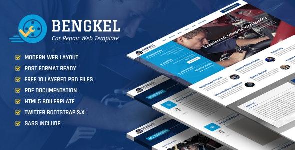 Bengkel - Modern Auto Car Repair Business Template - Business Corporate