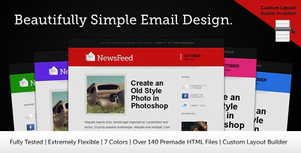 Newsfeed Email Template - Newsletters Email Templates