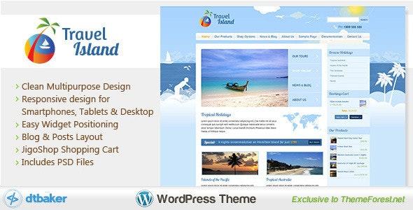 Travel Island WordPress - WooCommerce eCommerce