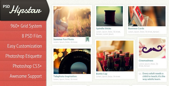 Hipstar - Creative PSD Template - Creative Photoshop