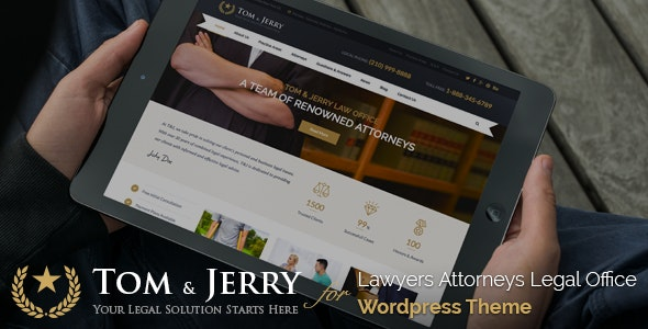 Tom & Jerry - A WordPress Law and Business Theme - Business Corporate