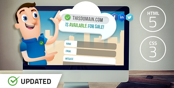 Salesman - Domain For Sale Template by FrequencyThemes