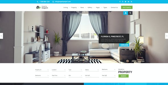 Property Expert - Real Estate PSD Template