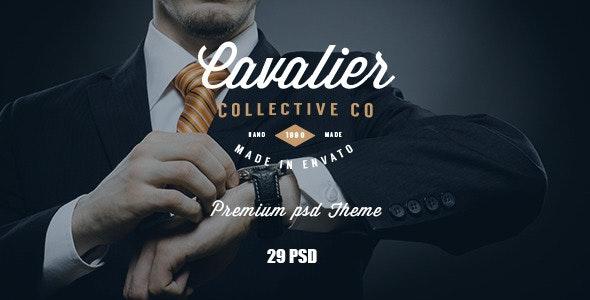 Cavalier - E-Commerce and Blog PSD Theme - Shopping Retail