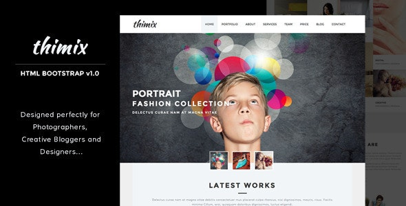 Thimix Creative Photography HTML Template - Photography Creative