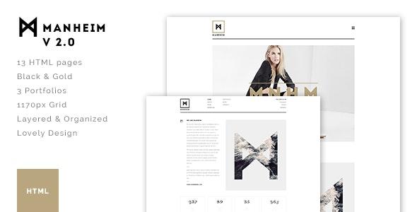 Manheim - Creative HTML Template - Creative Site Templates